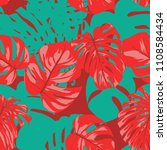 seamless tropical pattern with... | Shutterstock .eps vector #1108584434