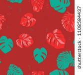 seamless tropical pattern with... | Shutterstock .eps vector #1108584437