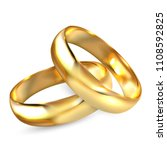 two realistic wedding rings... | Shutterstock .eps vector #1108592825