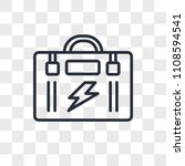 toolbox vector icon isolated on ... | Shutterstock .eps vector #1108594541