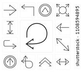 set of 13 simple editable icons ... | Shutterstock .eps vector #1108594895