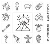 set of 13 simple editable icons ... | Shutterstock .eps vector #1108594904