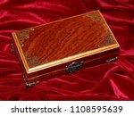 a handmade mahogany casket on...   Shutterstock . vector #1108595639