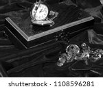 a handmade mahogany casket with ...   Shutterstock . vector #1108596281