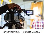 behind the scenes of video... | Shutterstock . vector #1108598267
