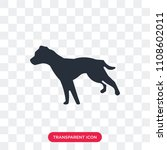 pitbull vector icon isolated on ... | Shutterstock .eps vector #1108602011