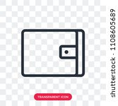 wallet vector icon isolated on...