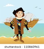 cartoon,christopher columbus,discovery,explorer,history,nautical vessel,sailing ship