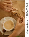 coffee and breakfast on the... | Shutterstock . vector #1108609649