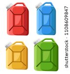 set of fuel canister icon. fuel ... | Shutterstock .eps vector #1108609847