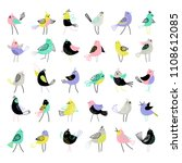 big set of charming birds | Shutterstock .eps vector #1108612085