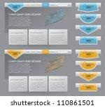 two versions website template... | Shutterstock .eps vector #110861501