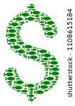 dollar vector mosaic composed... | Shutterstock .eps vector #1108615184