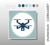 simple icon. blue colors. flat... | Shutterstock .eps vector #1108616087
