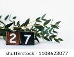 number 27   twenty seven     Shutterstock . vector #1108623077