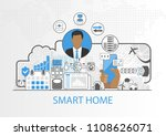 smart home vector background... | Shutterstock .eps vector #1108626071