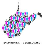 population west virginia state... | Shutterstock .eps vector #1108629257