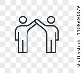 friendship vector icon isolated ... | Shutterstock .eps vector #1108630379