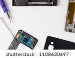 disassembled smartphone  mobile ... | Shutterstock . vector #1108630697
