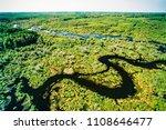 aerial of beaver lodge  spruce...   Shutterstock . vector #1108646477