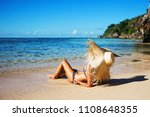 summer lifestyle portrait of... | Shutterstock . vector #1108648355