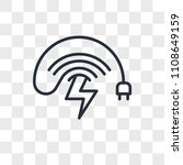 wireless charging vector icon... | Shutterstock .eps vector #1108649159