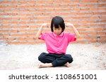 Asian Cute Kid Sitting Meditation - Fine Art prints