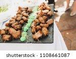 appetizers in a mediterranean... | Shutterstock . vector #1108661087