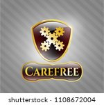 gold shiny emblem with... | Shutterstock .eps vector #1108672004