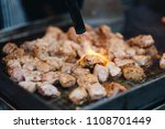 thai street food  pork and beef ... | Shutterstock . vector #1108701449