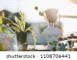 winter decoration garden with... | Shutterstock . vector #1108706441