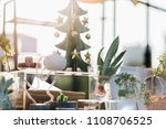 winter decoration garden with... | Shutterstock . vector #1108706525