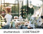winter decoration garden with... | Shutterstock . vector #1108706639