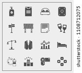 modern  simple vector icon set... | Shutterstock .eps vector #1108712075