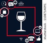 wineglass symbol icon | Shutterstock .eps vector #1108714091