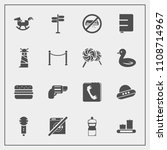 modern  simple vector icon set... | Shutterstock .eps vector #1108714967