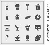 modern  simple vector icon set... | Shutterstock .eps vector #1108718144