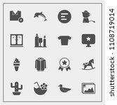 modern  simple vector icon set... | Shutterstock .eps vector #1108719014