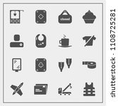 modern  simple vector icon set... | Shutterstock .eps vector #1108725281