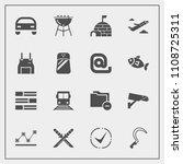 modern  simple vector icon set... | Shutterstock .eps vector #1108725311