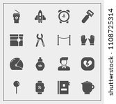 modern  simple vector icon set... | Shutterstock .eps vector #1108725314