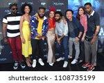 "Small photo of LOS ANGELES - JUN 08, 2018: Brian Tyree Henry, Stefani Robinson, Stephen Glover, Zazie Beetz, Donald Glover, Hiro Murai, Dianne McGunigle and Lakeith Stanfield ""Atlanta"" Robbin Season FYC"