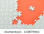plain white jigsaw puzzle  on... | Shutterstock . vector #110874461
