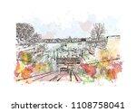 landmark with building view of... | Shutterstock .eps vector #1108758041