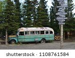 view on magic bus in alaska... | Shutterstock . vector #1108761584