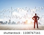 businessman standing with back...   Shutterstock . vector #1108767161