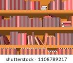 vector illustration bookshelf...   Shutterstock .eps vector #1108789217