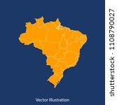 brazil map   high detailed... | Shutterstock .eps vector #1108790027