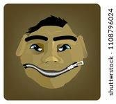 head of cartoon character with... | Shutterstock .eps vector #1108796024