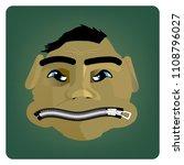 head of cartoon character with... | Shutterstock .eps vector #1108796027